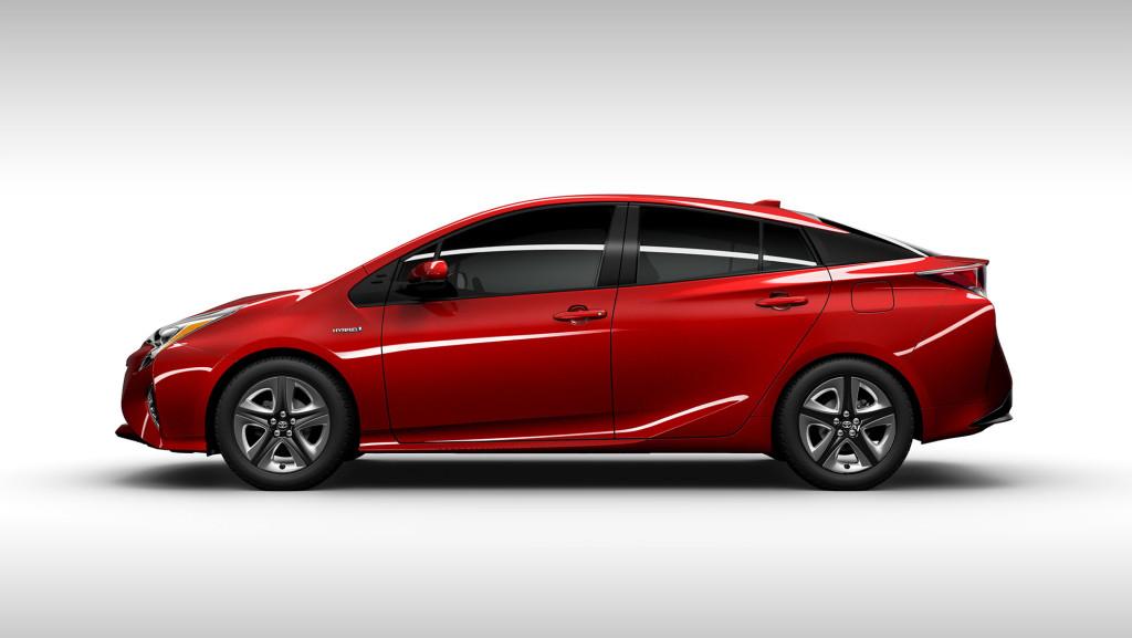 Vue de profil de Prius 4 2016