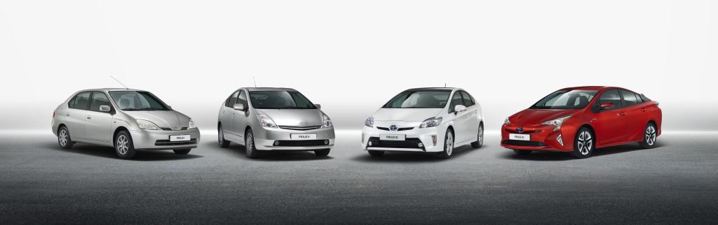 Les 4 générations de Prius