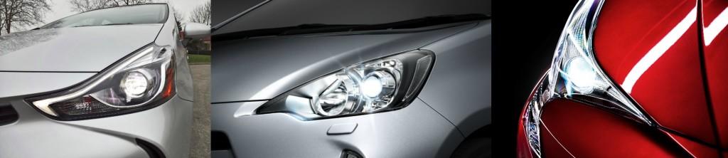 Les phares LED de Prius + restylé, Prius C restylé, et Prius 4, sous la philosophie TNGA