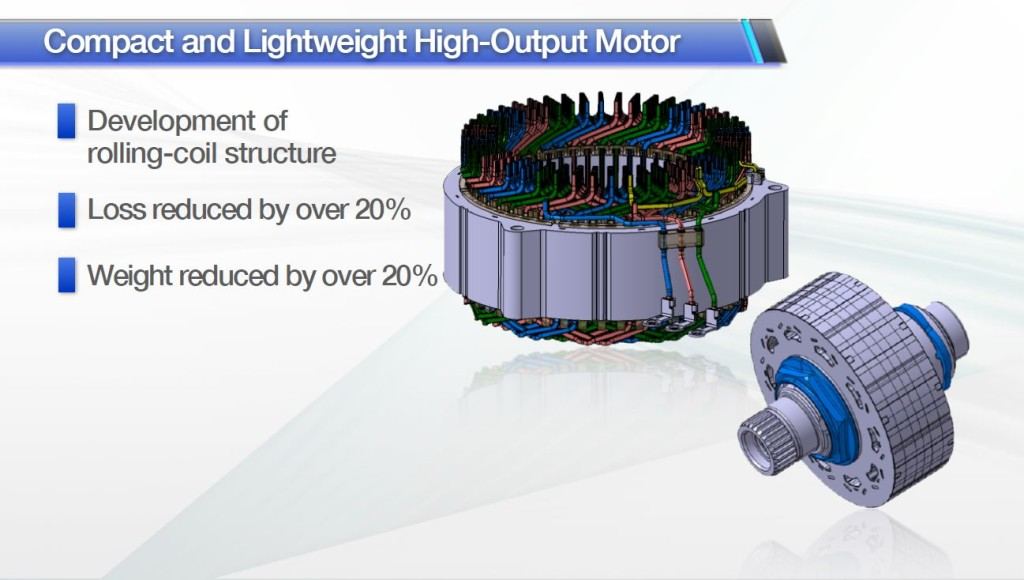 Moteur électrique de Toyota Prius 4, rendu plus compact tout en réduisant les pertes