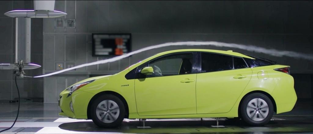 Test aérodynamique de Prius 4: un Cx record de 0,24