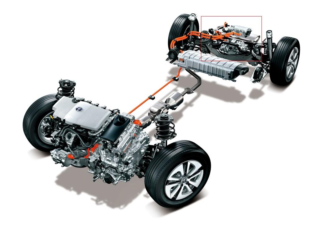 Toyota a su développer un système 4 roues motrices très compact