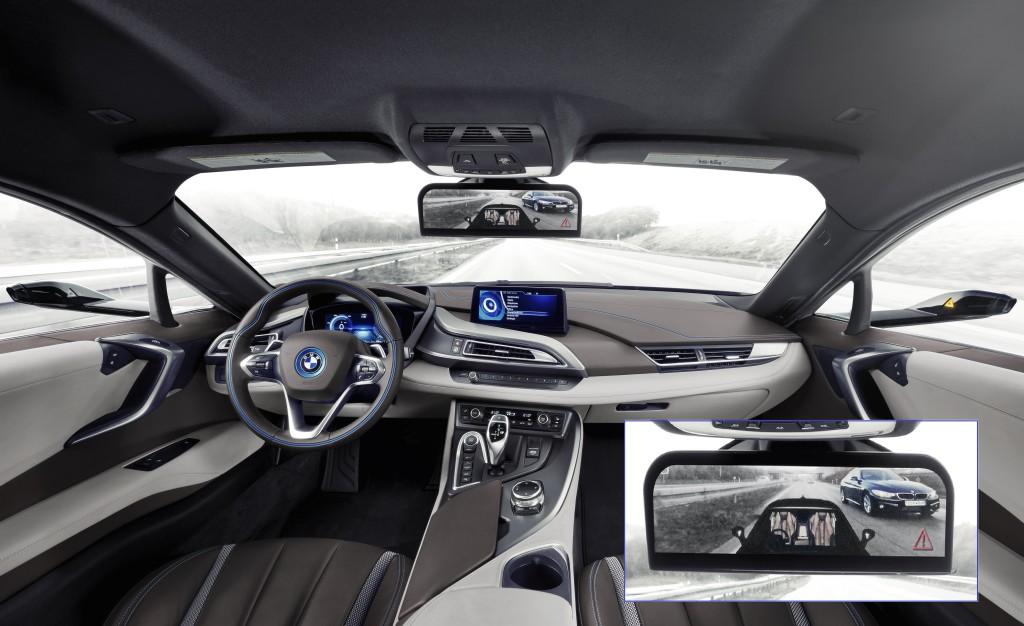BMW i8 Mirrorless Rétroviseur CES 2016