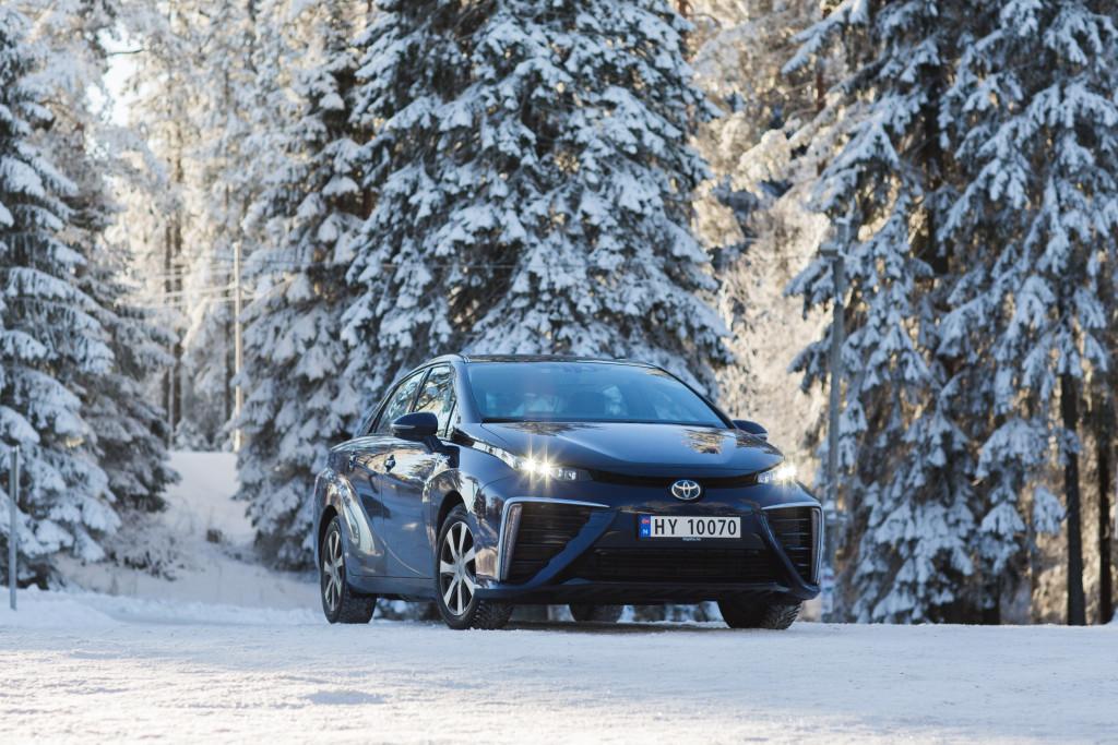 Toyota Mirai Neige Norvège