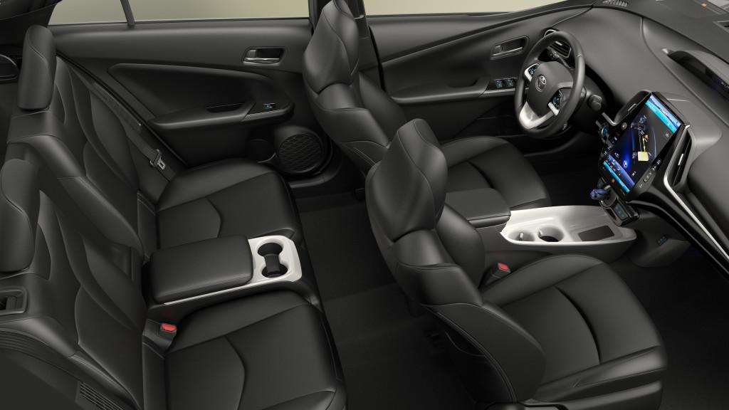 Toyota Prius Prime 2017 intérieur 4 places