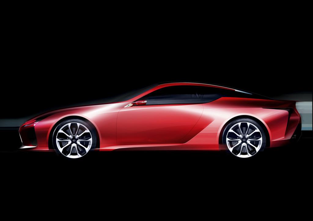 Lexus LC profil design