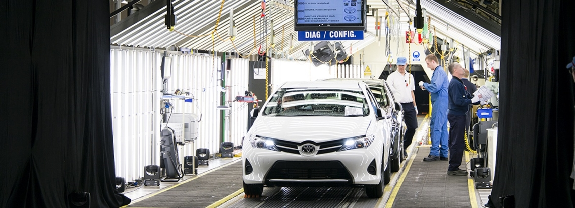 Toyota Auris hybride production - Brexit