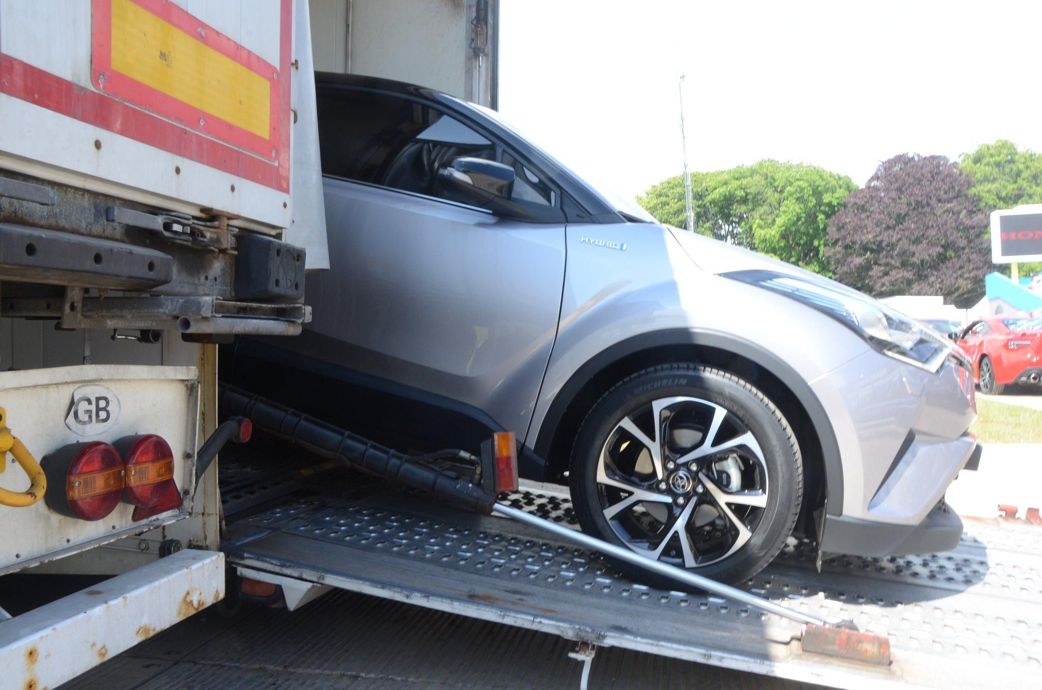 Toyota C-HR hybride : premières images au festival de Goodwood