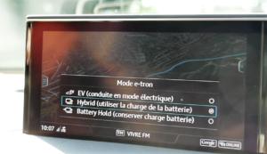 Audi Q7 e-tron quattro V6 TDI - mode hybride