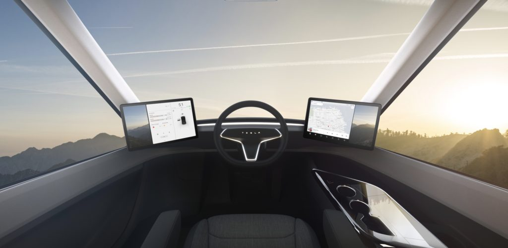 Tesla Semi Intérieur
