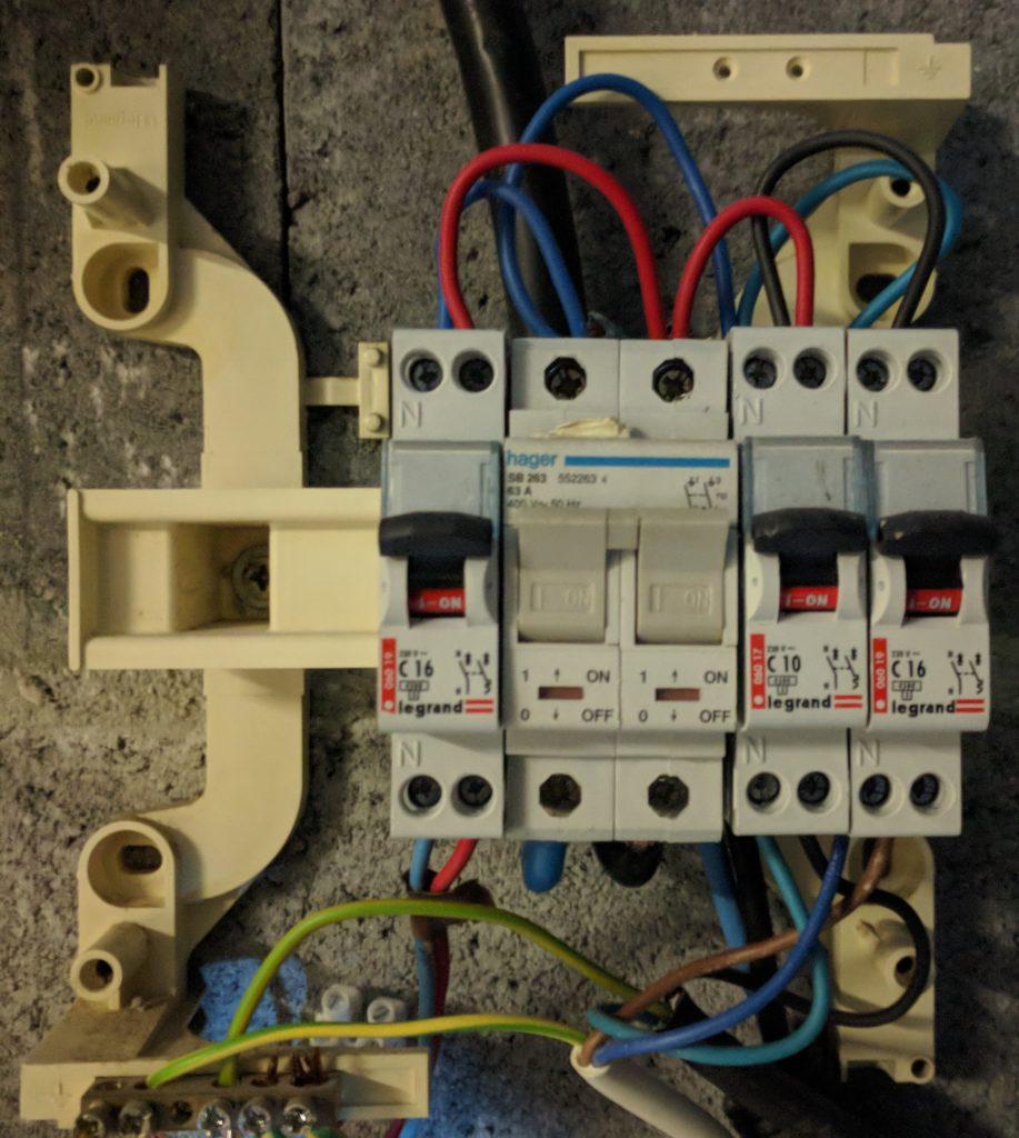 Tableau électrique détails