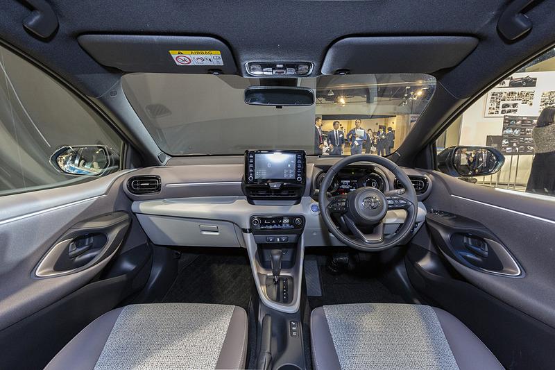 Intérieur de Toyota Yaris hybride 2020