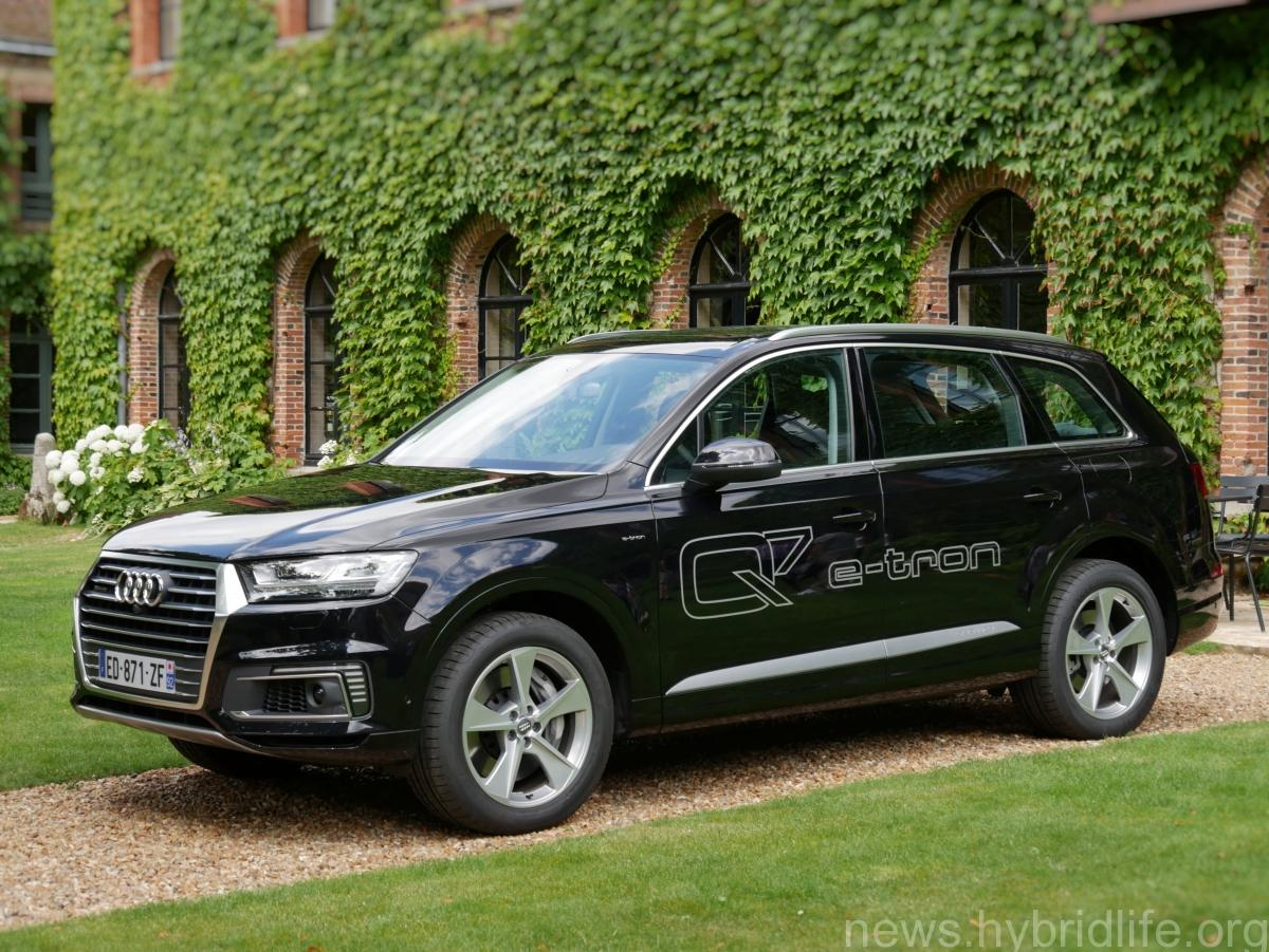 suv audi q7 e tron quattro v6 tdi liste des essais et des tests de presse hybrid life. Black Bedroom Furniture Sets. Home Design Ideas